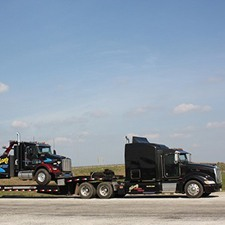 haul truck and trailer